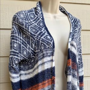 Hollister Women's Patterned Open Front Poncho